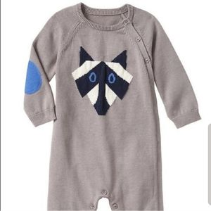 BABY GAP Racoon sweater romper jumpsuit